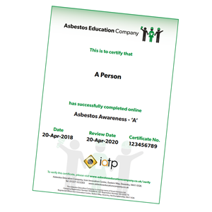 Asbestos Awareness 'A' Certificate